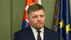 Slovenský expremiér Robert Fico po posledním jednání koaliční rady