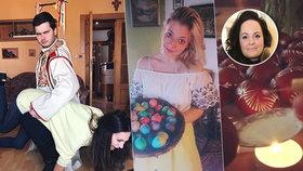 Velikonoce podle celebrit: Bučková dostala na zadek, Čvančarová makala s mobilem ve výstřihu!