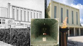 Krematorium Strašnice, které Suchého otec, rovněž František, vedl mezi lety 1932 a 1952.