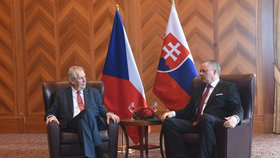 Český prezident Miloš Zeman se ve Vysokých Tatrách sešel se svým slovenským protějškem Andrejem Kiskou.