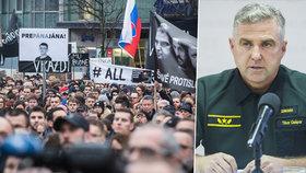 Protesty na Slovensku nekončí, lidé požadují odvolání policejního prezidenta Tibora Gašpara.