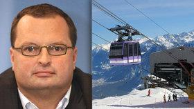 Lyžařský resort Radovana Vítka ve Švýcarsku zasáhla lavina.