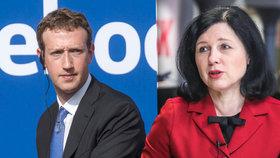 Eurokomisařka Jourová ke kauze Facebook