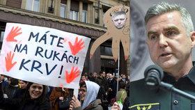Šéf slovenské policie Tibor Gašpar se svého křesla pustit nehodlal. Ani když proti němu protestovalo více než 30 tisíc lidí.