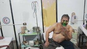Útok na město Dúmá v Sýrii, při němž byly podle očitých svědků použity chemické látky