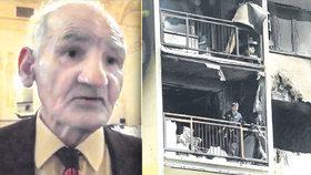 Přeživší holocaustu Ľudovít Deleman (†92) uhořel ve svém domě.