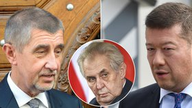 Okamura se Zemanem doufají ve vládu ANO, SPD a KSČM
