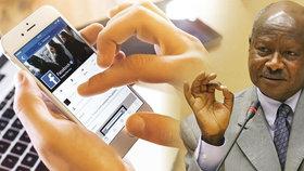 Ugandský prezident Yoweri Museveni chce zpoplatnit používání sociálních médií v mobilech.