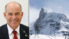 Německý magnát Karl-Erivan Haub se ztratil v oblasti alpského štítu Matterhorn.