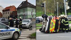 Nehoda záchranného vozu