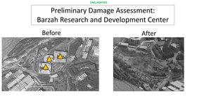 Před a po: Pohled na zasažené výzkumné centrum