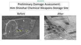 Před a po: Sklad chemických zbraní v Him Šinšáru