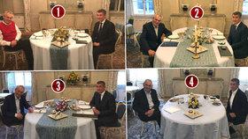 Tři večeře a jedna svačina v Lánech: Prezident Miloš Zeman a premiér v demisi Andrej Babiš v Lánech