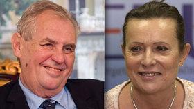 Zeman chce udělit státní vyznamenání bývalé šéfce ERÚ Aleně Vitáskové.