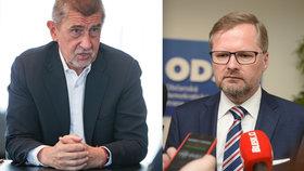 Slova Andreje Babiše z rozhovoru pro Blesk naštvala šéfa ODS Petra Fialu