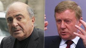 Podle generálního prokurátora Jurije Čajky (vpravo) se oligarcha Boris Berezovskij (vlevo) podílel na otravě Alexandra Litviněnka, následně ho zabili britští agenti.