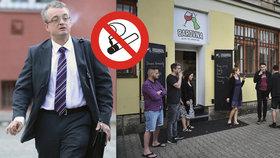 Poslanec Marek Benda o protikuřáckém zákonu: Vyhnali lidi na ulice.