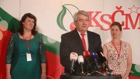 Sjezd KSČM v Nymburku: Šéfem strany zůstal Vojtěch Filip (21. 4. 2018).