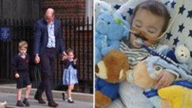 Záběry Alfieho z nemocnice