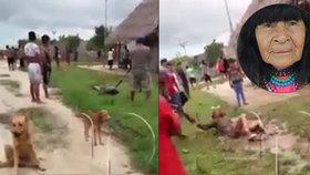 Otřesné záběry: Domorodci v Peru lynčují Kanaďana (†41), jako krevní mstu za smrt šamanky.