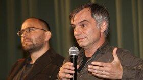 Ivan Trojan s režisérem Petrem Krištúfkem (†44)