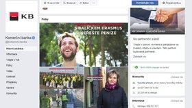 Klienti Komerční banky měli problémy s připojením k internetovému bankovnictví. A titulní stránka facebookového profilu vypadala v tu chvíli takto.