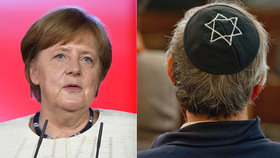 Merkelová přiznala, že v Německu stoupl počet antisemiticky motivovaných zločinů.