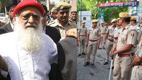 Indický guru Asaram Bapu byl usvědčen ze znásilnění, očekává se, že dostane doživotní trest.