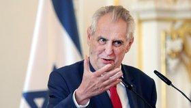 Prezident Miloš Zeman na oslavách 70. výročí založení státu Izrael