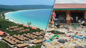 Zbytek provincie Sihanoukville se topí v odpadcích.