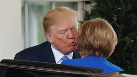Americký prezident Donald Trump přijal v Bílém domě německou kancléřku Angelu Merkelovou