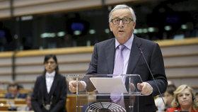 Předseda Evropské komise Jean-Claude Juncker na prezentaci rozpočtu Evropské unie do roku 2027