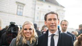 Rakouský premiér Sebastian Kurz a jeho přítelkyně Susanne Thierová