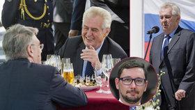 Miloš Zeman opět vyrazí na ruskou ambasádu. Mluvčí Ovčáček ho hájí kvůli novičoku