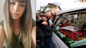 V Římě se dnes konal pohřeb mladé Italky Pamely Mastropietrové, která byla v lednu brutálně zavražděna krátce po ukončení léčby drogové závislosti. Z vraždy jsou podezřelí tři Nigerijci, z nichž jeden je drogový dealer.