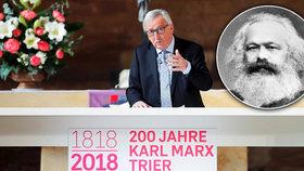 Juncker svými slovy o Marxovi naštval řadu českých politiků