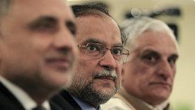Pákistánský ministr vnitra Ahsan Ikbál