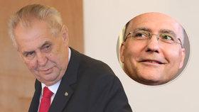 Prezident Miloš Zeman odmítne jmenovat šéfa BIS Koudelku generálem?