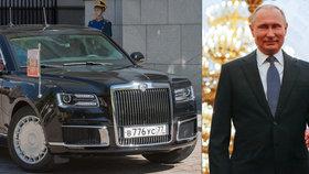 Putin se vezl na inauguaci novou limuzínou: Stála čtyři miliardy korun, ujel s ní 200 metrů