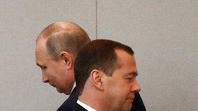 Medveděv a Putin
