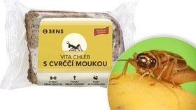 Prorazí cvrččí chleba i na českém trhu? Podle výrobce má oproti běžným potravinám řadu výhod, problémem však může být kromě jiného vysoká cena ( 9. 5. 2018).