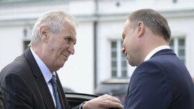 Miloš Zeman na státní návštěvě Polska (9. 5. 2018)