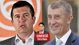 Vládní spolupráce ČSSD Jana Hamáčka a ANO Andreje Babiše pohledem Petra Holce