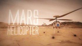 Vizualizace vrtulníku NASA na Marsu