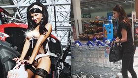 Bývalá modelka si zašla na nákup do známého obchodního řetězce.
