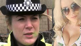 Sexy policistka má pořádný průšvih: Přivydělávala si polonahá před počítačem a v práci předstírala nemoc!