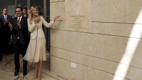 USA oficiálně otevřely americkou ambasádu v Jeruzalémě (14. 5. 2018). Slavnostního ceremoniálu se účastní dcera amerického prezidenta Ivanka Trumpová.