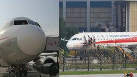 Čínskému letadlu za letu upadlo přední sklo.
