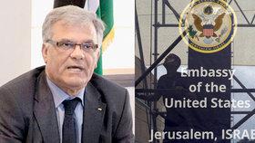 Palestinský velvyslanec v ČR Khaled Alattrash opustí Prahu. Palestina jej stahuje na protest proti účasti českého velvyslance na recepci u příležitosti pondělního slavnostního otevření amerického velvyslanectví v Jeruzalémě (16. 5. 2018).