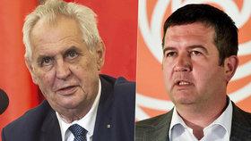 Miloš Zeman se v Ostravě setká s předsedou sociálních demokratů Janem Hamáčkem. Ve čtvrtek budou mluvit o vyjednáváních o vládě.